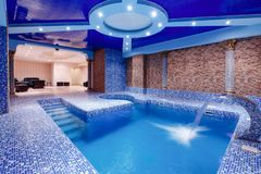 Pool with illumination royalty free stock photos