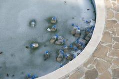 Pool im Freien im Winter Stockbilder