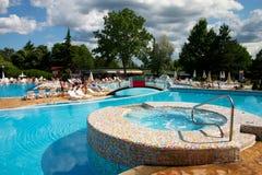 Pool im Hotel Stockfoto