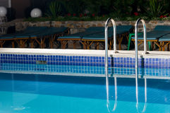 Pool indoor recreation Royalty Free Stock Photography