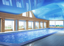 Pool inside the house Royalty Free Stock Photography