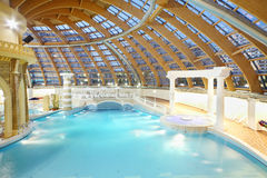 Pool and and Jacuzzi in water park Caribia Stock Photography