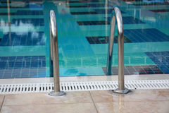 Pool ladder Stock Photography