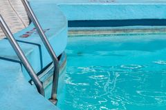 Pool with ladder and blue paint, Havana stock images