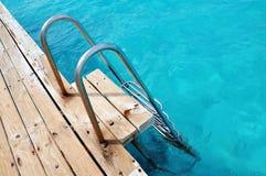 Pool ladder Stock Photo