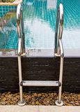 Pool ladder. Royalty Free Stock Image