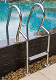Pool ladder. Stock Photos