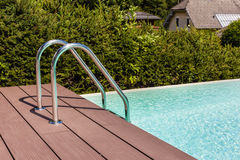 Pool ladder Stock Photo