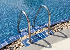 Pool Ladder. In swimming pool resort Royalty Free Stock Photos