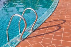 Pool Ladder. In swimming pool resort Royalty Free Stock Photography