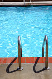 Pool ladders. Swimming pool ladders to either enter or exit royalty free stock image
