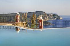 Pool in Lakones. Corfu  island. Greece Royalty Free Stock Images