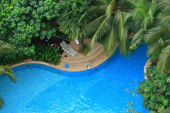 Pool Landscape. A beautiful pool landscape from top Stock Photography