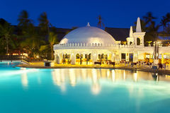 Pool Landscape At Night, editorial Stock Image