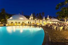 Pool Landscape At Night, editorial stock photography