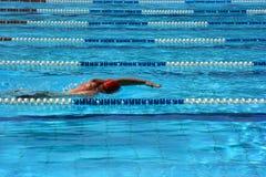 Pool lane. Man swimming in a pool lane Stock Images