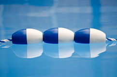 Pool lane floats Royalty Free Stock Photo