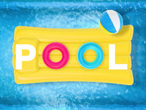 Pool letter on inflatable raft Stock Photography