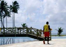 Pool Lifeguard Royalty Free Stock Photos