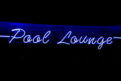 Pool Lounge neon sign Stock Photo