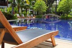 Pool in luxury hotel Stock Image