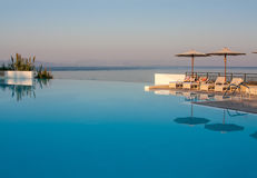 Pool of a luxury resort Stock Photo