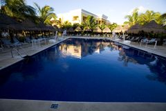 Pool at luxury resort in Mexico. Sport pool at luxury resort in Mexico Royalty Free Stock Image