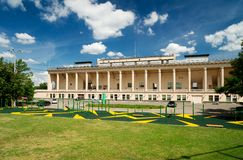 The pool in Luzhniki, Moscow. Old Soviet style Royalty Free Stock Photography