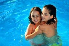 Pool-Mädchen Stockfotos