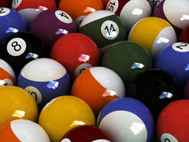 Pool manifestation. Close-up billard balls Royalty Free Stock Images