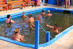 Pool met salwater Royalty-vrije Stock Fotografie