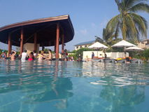 Pool mit einer Bar Lizenzfreie Stockfotos