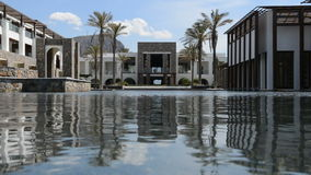 The pool at modern luxury hotel. Crete, Greece stock footage