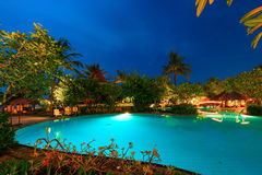The pool In the moonlight Royalty Free Stock Photos