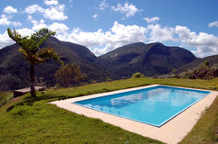 Pool in the mountains Royalty Free Stock Photography