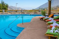 The pool between mountains royalty free stock images