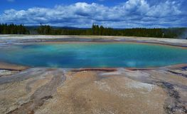Pool in National park Yellowstone. One photo of a pool in National park Yellowstone stock images