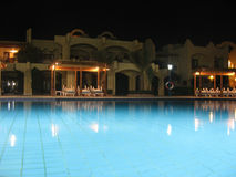 Pool at night stock image