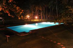 Pool by night Royalty Free Stock Photography