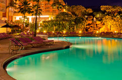 A Pool at Night. Royalty Free Stock Photos