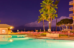 A Pool at Night. Stock Photography