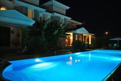 Pool at night 2 Royalty Free Stock Photos