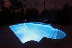 Pool at Night Royalty Free Stock Photography