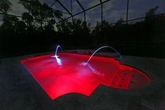 Pool at Night Royalty Free Stock Photos