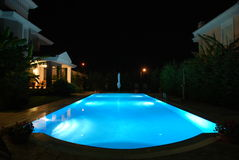 Pool at night Stock Photos
