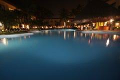 Pool at night Stock Photos