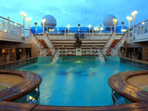 Pool at night. Pool on the cruise ship at night Royalty Free Stock Photos
