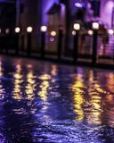 A pool at the night blur scene stock images