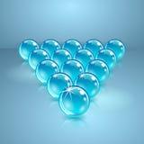 Pool oder Billardkugeln hergestellt vom Glas. Lizenzfreie Stockfotografie