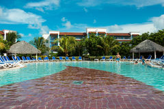 Pool in an old inclusive hotel in Cuba Stock Image
